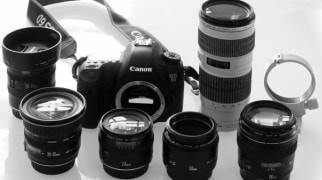Фотоаппарат Canon и объективы